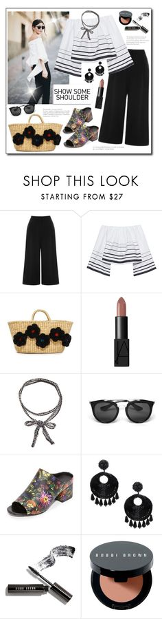 """Show Some Shoulder!"" by diane1234 ❤ liked on Polyvore featuring Warehouse, Kendall + Kylie, Nannacay, NARS Cosmetics, Chan Luu, Prada, 3.1 Phillip Lim, Kenneth Jay Lane and Bobbi Brown Cosmetics"