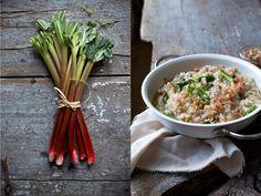 Rhabarber-Risotto mit grünem Spargel. | Foodlovin'