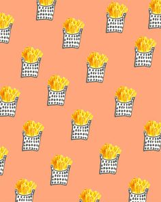 Fries #pattern from