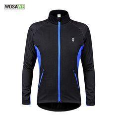 WOSAWE Winter Thermal Fleece Cycling Jacket Windproof Warmer Bike Bicycle Jacket Sport Cycling Jersey Clothing #Affiliate