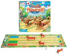 Dash Hounds - this looks simple but fun to play as everyone races a dachshund to the finish!