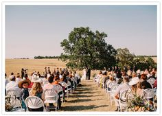 Wyoming ranch summer ceremony under a majestic tree..