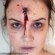Happy Halloween Everyone! I'm going to share with you a super easy, quick, last minute Halloween look, that looks really effective but...