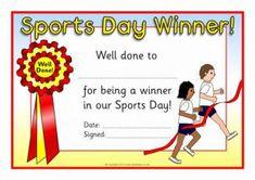 Sack Race Sports Day Certificates (SB4662) - SparkleBox Sports Day Awards, Sports Day Games, Sports Day Activities, Preschool Activities, Outdoor Activities, School Sports, Kids Sports, School Fun, Sports Day Certificates