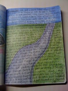 Art/Faith Journal (LOVE her handwriting!)