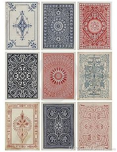card deck design-disapointed to find out they weren't rugs!