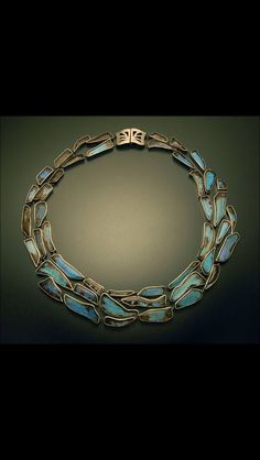 Enamel necklace--not polymer but could be--the clasp could be polymer and wire.
