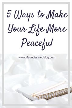 Finding the work/life balance is hard. Through my own struggles with balancing my life, I've identified 5 ways to make your life more peaceful. Click through to find out how >>>