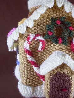 Ravelry: Gingerbread House 4, Candy Canes pattern by Frankie Brown