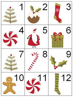 Counting Coconuts: Calendar Cards: Christmas