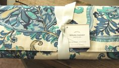 """NWT!  Pottery Barn Blue Felicity Table Runner Paisley Floral Sold Out! 18"""" x 108 #PotteryBarn"""