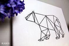 Geometric Animal String Art