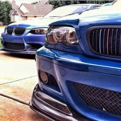 BMW E46 M3 and E92 M3 blue