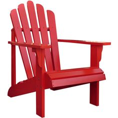 Westport Adirondack Chair in Cherry Tomato