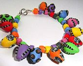 Very Colourful Sunny Bracelet - Inspired by Donna Kato Kato, My Sunshine, Sunnies, Polymer Clay, Inspired, Bracelets, Etsy, Color, Inspiration