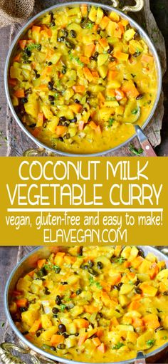 Vegetable Curry With Coconut Milk And Pineapple - Elavegan My Recipes -You can find Milk and more on our website.Vegetable Curry With Coconut Milk And. Vegetable Curry Coconut Milk, Easy Vegetable Curry, Vegetable Dishes, Best Vegan Curry Recipe, Slow Cooker Curry, Vegan Slow Cooker, Slow Cooker Vegetable Curry, Veggie Recipes, One Pot Dinners