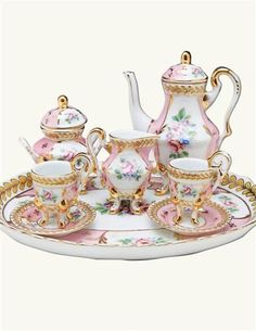 Porcelain Dolls Value, Porcelain Dolls For Sale, Childrens Tea Sets, Tea Sets Vintage, China Tea Sets, Tea Pot Set, Tea Service, Objet D'art, Tea Cup Saucer