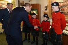 Prince William Photos Photos - Prince William, Duke of Cambridge meets children from The Queen Victoria Schools during a visit to Stirling Castle on October 24, 2016 in Stirling, Scotland.  The Duke of Cambridge in his role as Earl of Strathearn is Patron of The Thin Red Line Appeal to redevelop The Argyll and Sutherland Highlanders Regimental Museum at the Castle. - Duke Of Cambridge Visits Stirling Castle