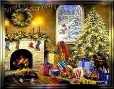 tutto glitter: caminetto natalizio