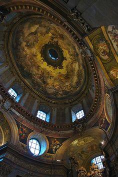 Baroque Dome, St Peter's Church, Vienna, Austria