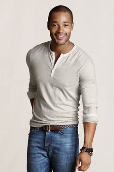 I'm a total sucker for henleys.  Great for the casual, cool look.  #landsendcanvas