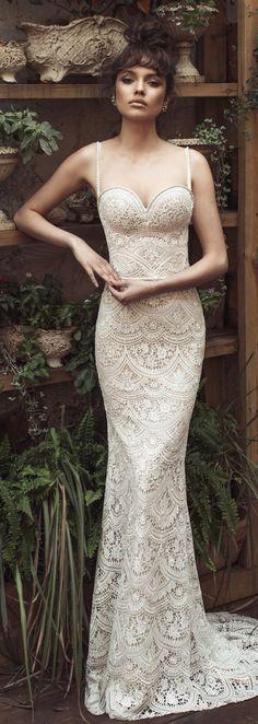 Vestido de Noiva por Julie Vino 2017 Romanzo Collection |  Sereia, laço, nupcial, vestido