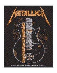 0cdc7da352f Metallica Patch Hetfield Guitar Logo Black Cotton Sew On 10cm x 8cm. James  HetfieldThrash MetalGuitar ...