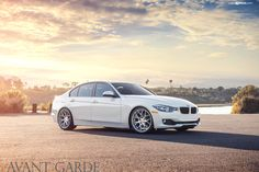 Alpine White BMW F30 328i On Avantgarde Wheels - http://www.bmwblog.com/2014/09/24/alpine-white-bmw-f30-328i-avantgarde-wheels/