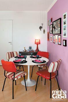 7 salas de jantar pequenas com mesas redondas
