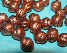 Vintage Copper Spiral Acrylic Beads bds271 Acrylic Beads, Spiral, Copper, Trending Outfits, Unique Jewelry, Handmade Gifts, Creative, Etsy, Vintage