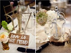 Love the idea of the verse on each table about what love is