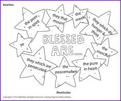 coloring beatitudes blessed are