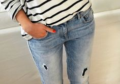 Stripes & jeans