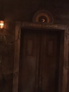 Tower of Terror Service Elevator