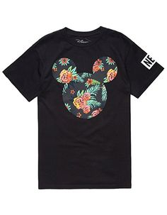 2362f4e9 NEFF Disney Collection Astro Floral Mickey Mens TShirt Black XXLarge >>>  Continue to the product at the image link.