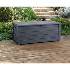 Keter Brightwood 120 Gallon Resin Deck Box & Reviews   Wayfair