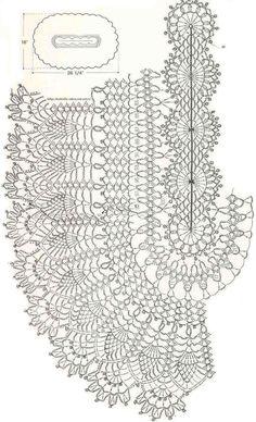 Crochet oval doily chart