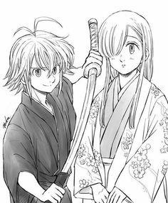 Meliodas And Elizabeth, Elizabeth Liones, Seven Deadly Sins Anime, 7 Deadly Sins, Me Me Me Anime, Anime Love, Sir Meliodas, Era Meiji, Fairy Tail Natsu And Lucy