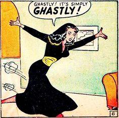 Ghastly! Is she farting? Lol