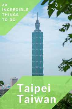 Visiting Taiwan and spending most of your time in Taipei? Here is a list of 20 incredible things to do in Taipei for every traveler. Click through to read more: https://mytanfeet.com/taiwan/20-things-to-do-in-taipei/