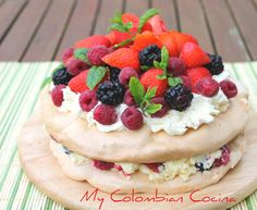 My Colombian Cocina - Postres Pavlova Cake, Colombian Food, Cupcakes, Sweet Pastries, Appetisers, Tea Time, Cheesecake, Sweets, Baking