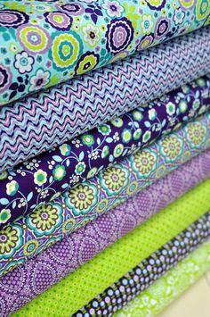 Fat Quarter Bundles   Bonjour  Collection Purple by dianekappa