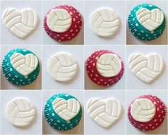 Volleyball Cupcake Topper by MissSweetSends on Etsy https://www.etsy.com/listing/175647659/volleyball-cupcake-topper
