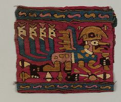 Coca Bag  Date: 5th–7th century Geography: Peru Culture: Moche Medium: Camelid hair, cotton Dimensions: H. 5 x W. 6 in. (12.7 x 15.2 cm)