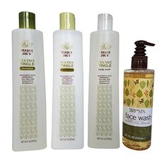 Trader Joes Tea Tree Tingle Shower Bundle Shampoo Conditioner Body Wash  Face Wash * Click for Special Deals #OrganicBodyWash Organic Body Wash, Trader Joe's, Special Deals, Shampoo And Conditioner, Face Wash, Tea Tree, Hairstyle, Personal Care, Shower