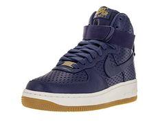 be0a5439fe77 Nike Womens Air Force 1 Hi Prm Dk Purple DustDk Purple Dust Basketball Shoe  8 Women