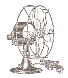 Vintage Clip Art - Electric Fans - Steampunk - The Graphics Fairy