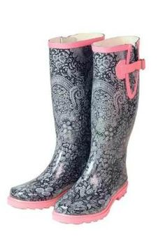 Lace Wellies (rubber gardening boots)