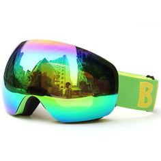 00bef1fe175 New design Benice brand Cool Snow Goggles Windproof 100% UV 400 double lens  Eye wear Protective Safety Skiing Goggles SNOW-4500