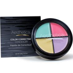 Aesthetica Color Correcting Cream Concealer Palette Perfect for Concealing Blemishes Discoloration Imperfections and Under eye Circles Paraben Talc Free *** To view further for this item, visit the image link. Color Correcting Concealer, Concealer Palette, Cream Concealer, Cruelty Free Makeup List, 3d Fiber Mascara, Photoshop, Makeup Guide, Fantasy Makeup, Im Not Perfect
